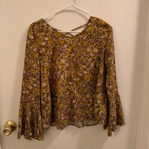 Purple and Gold Floral Top